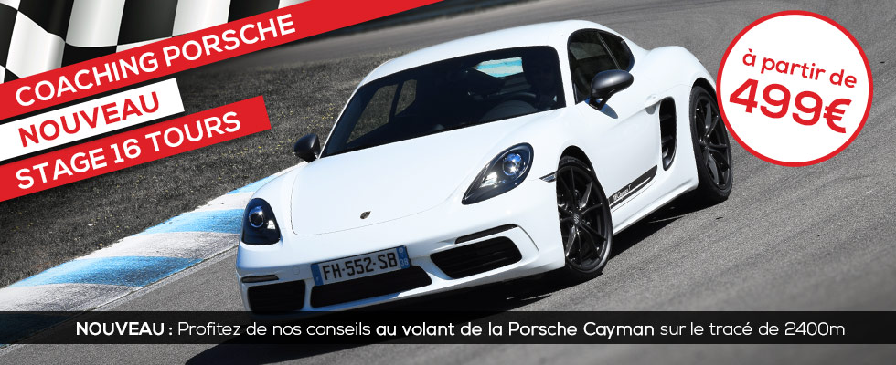 Stage Coaching Porsche Cayman 718T